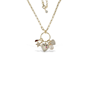 Alexandra Marks | Love Charm Necklace in 18kt gold plated sterling silver