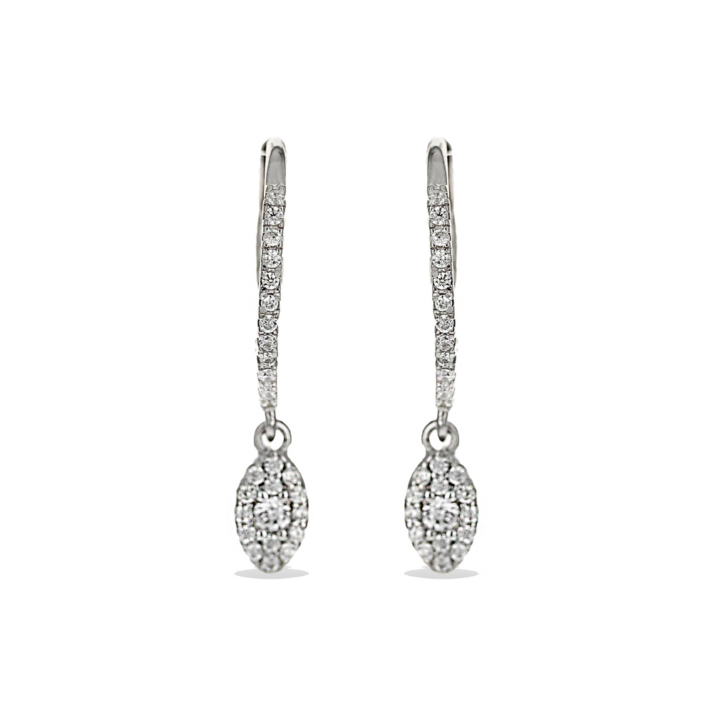 Alexandra Marks | Marquise CZ Charm Lever-Back Earrings