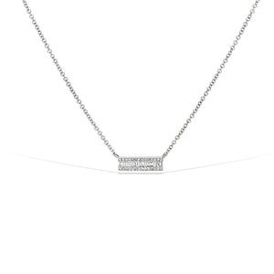 Alexandra Marks - Diamond Bar Necklace in White Gold