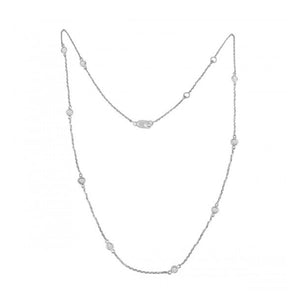 Alexandra Marks | Diamonds By-The-Yard 14kt White Gold Necklace