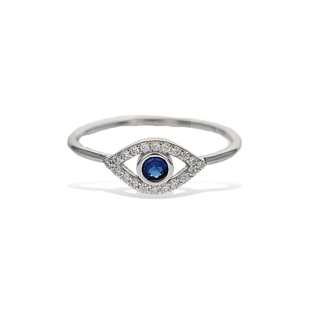Load image into Gallery viewer, Alexandra Marks | Evil Eye Cz Sterling Silver Ring