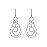Alexandra Marks | Swirling CZ Circle Statement Earrings, Sterling Silver