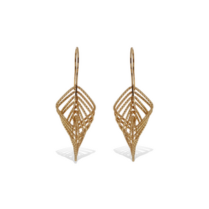 Gold Square Diamond Cut Dancing Drop Earrings - Alexandra Marks Jewelry