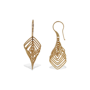 Alexandra Marks - Gold Diamond Cut Drop Earrings