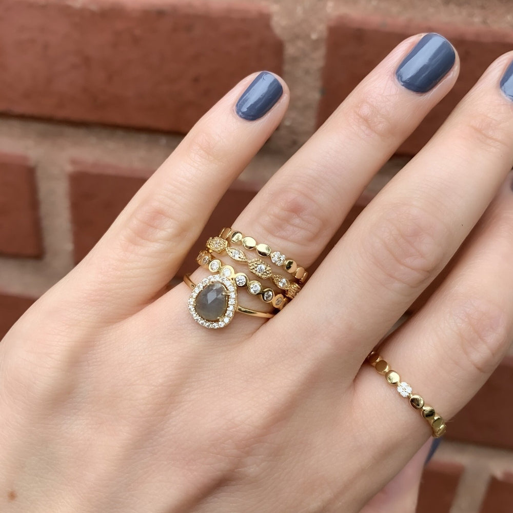 Free Form Labradorite Ring