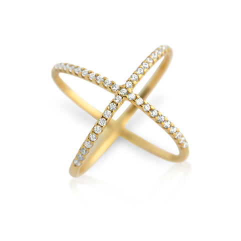 Golden X Ring