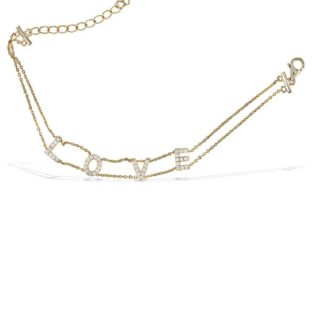 Load image into Gallery viewer, Alexandra Marks - gold love word bracelet