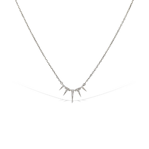 Load image into Gallery viewer, Petite pointed cz triangle necklace - Alexandra Marks Jewelry