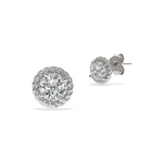 Alexandra Marks | Round Cz Stud Earrings in Sterling Silver
