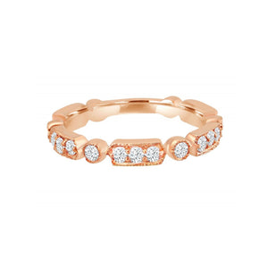 Load image into Gallery viewer, Diamond Art Deco Rose Gold Ring