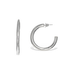 Alexandra Marks - Chunky Sterling Silver Post Hoop Earrings