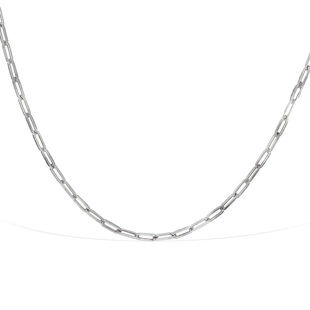 Alexandra Marks | Silver Italian Oval Link Choker Chain Necklace
