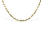 Gold Plated Sterling Silver Curb Chain Short Necklace - Alexandra Marks Jewelry