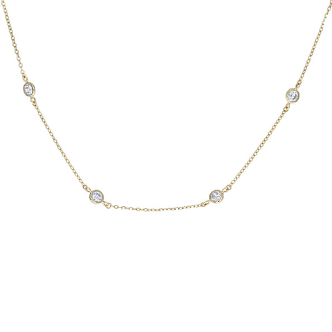 Bezel Cz By-The-Yard Necklace
