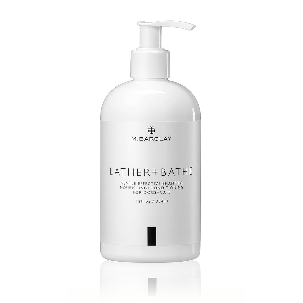 Lather + Bathe organic shampoo for dogs and cats