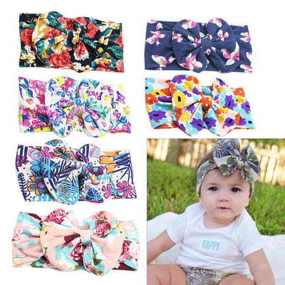 Baby Girl Big Bow Cloth Headband 6PCS