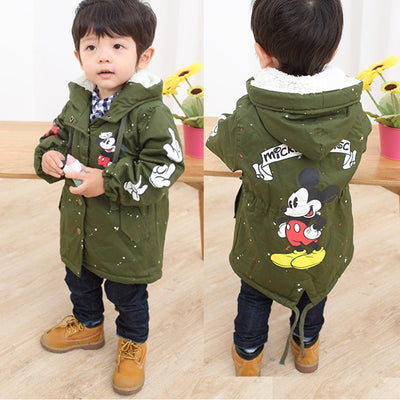 Baby Boys & Girls Canvas Fleece Hooded Jacket