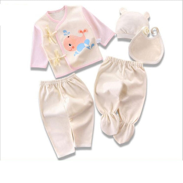 Newborn Infant Boy Girl Clothes 5pcs/Set 0-3 Months