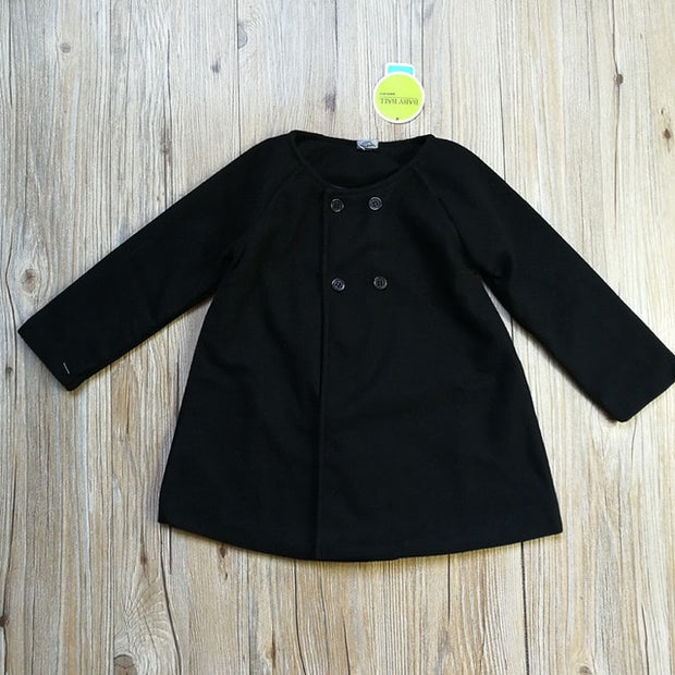 Little Girl Winter Cloak Button Coat