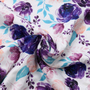 Newborn Baby Cotton Muslin Floral Wrap Swaddling Blanket 3Pcs