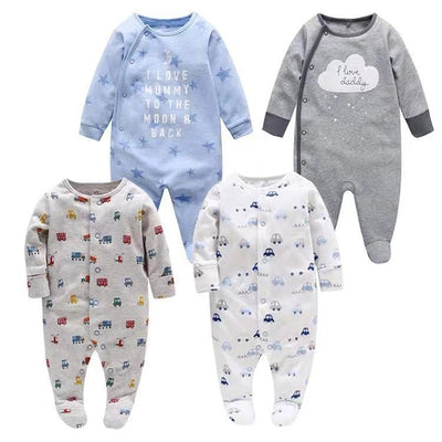 Baby Boys Long Sleeve Sleepers 2 PCS Set