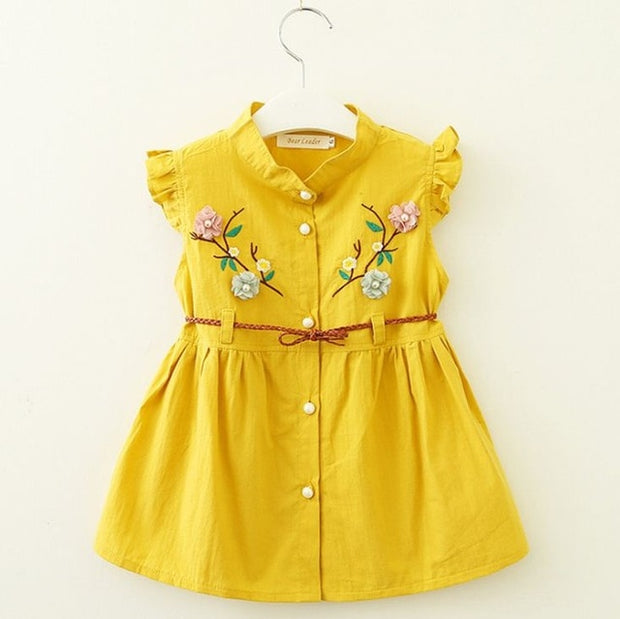Summer A--Line Sleeveless Floral Toddler Dress 9M to 3T