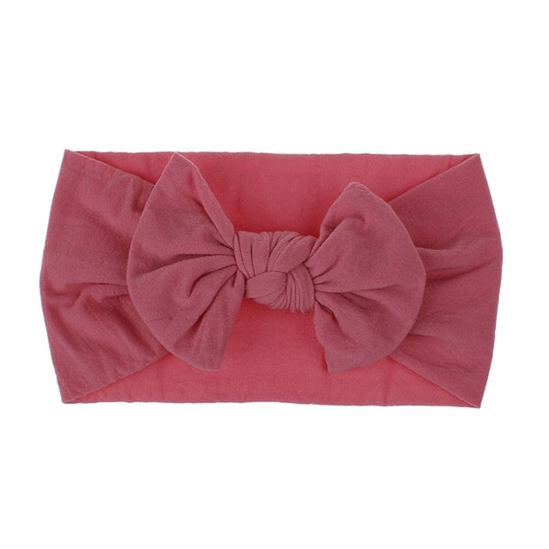 Newborn Baby Bow Nylon Soft Elastic Headband