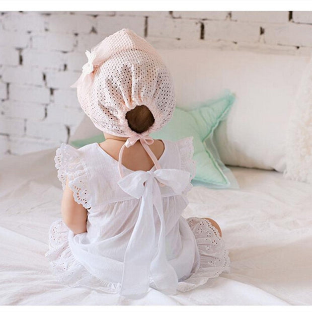 Cute Toddlers Flower Summer Cotton Bonnet