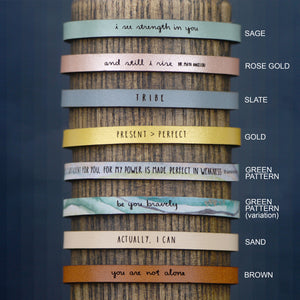 In the End, We All Become Stories - Leather Bracelet