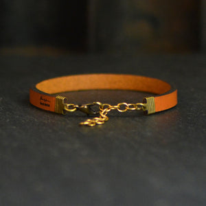 Hope is the Thing With Feathers - Leather Bracelet