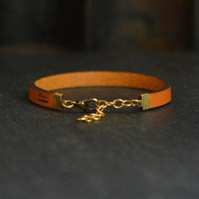 Miles Apart But Besties At Heart - Leather Bracelet