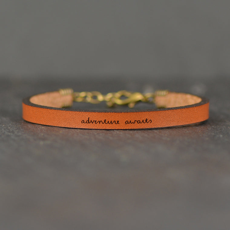 Adventure Awaits - Leather Bracelet