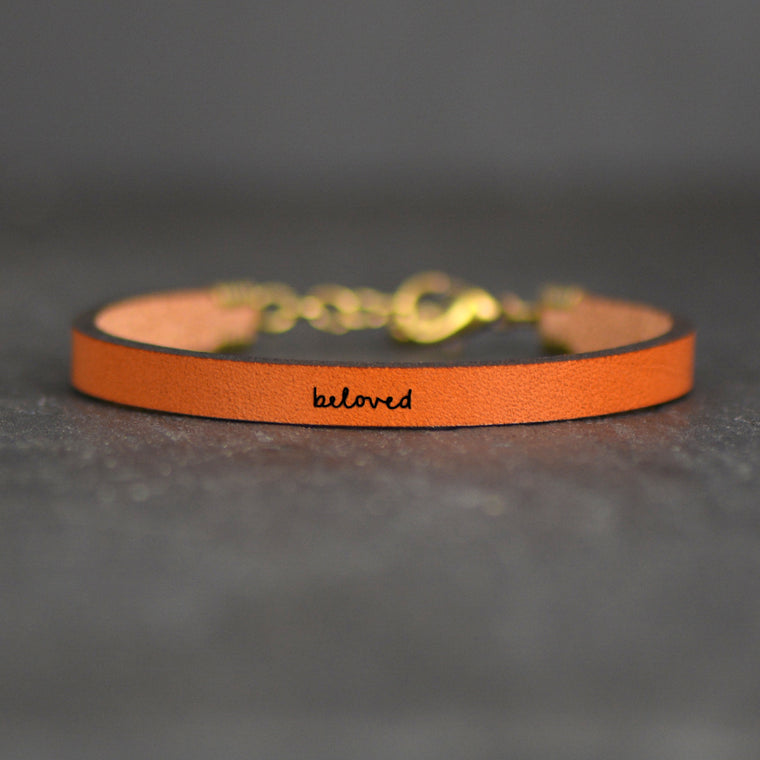Beloved - Leather Bracelet