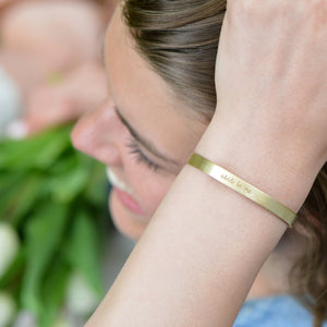 Abide In Me (John 15:4) - Brass Cuff