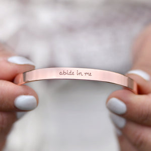 Load image into Gallery viewer, Abide In Me (John 15:4) - Brass Cuff - laurel denise