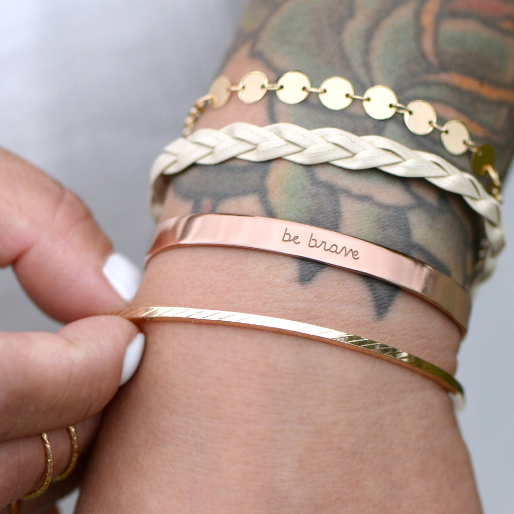 Be Brave - Brass Cuff