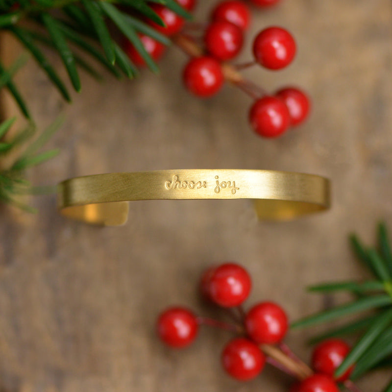 Choose Joy - Brass Cuff