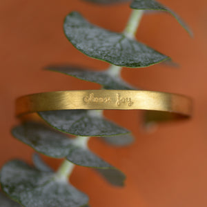 Load image into Gallery viewer, Choose Joy - Brass Cuff
