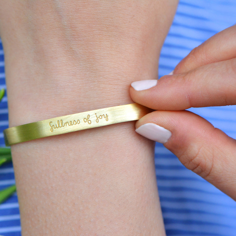 Fullness of Joy - Brass Cuff