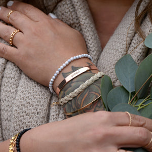 Load image into Gallery viewer, Grateful - Brass Cuff