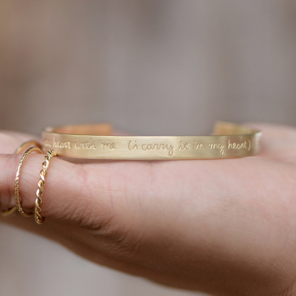 I Carry Your Heart - Brass Cuff