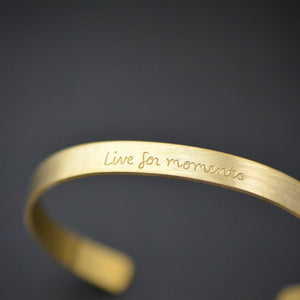 Live For Moments - Brass Cuff