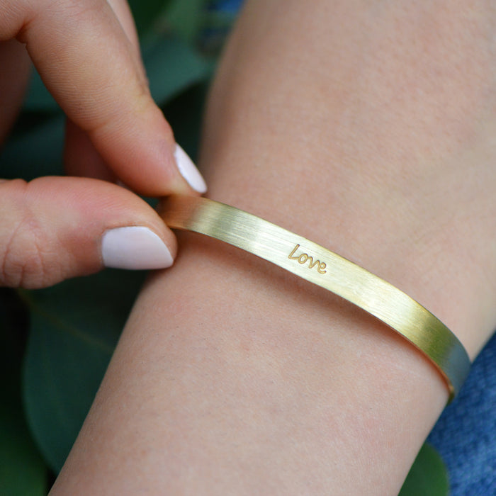 Love - Brass Cuff