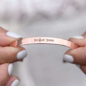 Perfect Peace (Isaiah 26:3) - Brass Cuff