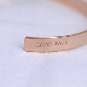 Load image into Gallery viewer, Perfect Peace (Isaiah 26:3) - Brass Cuff