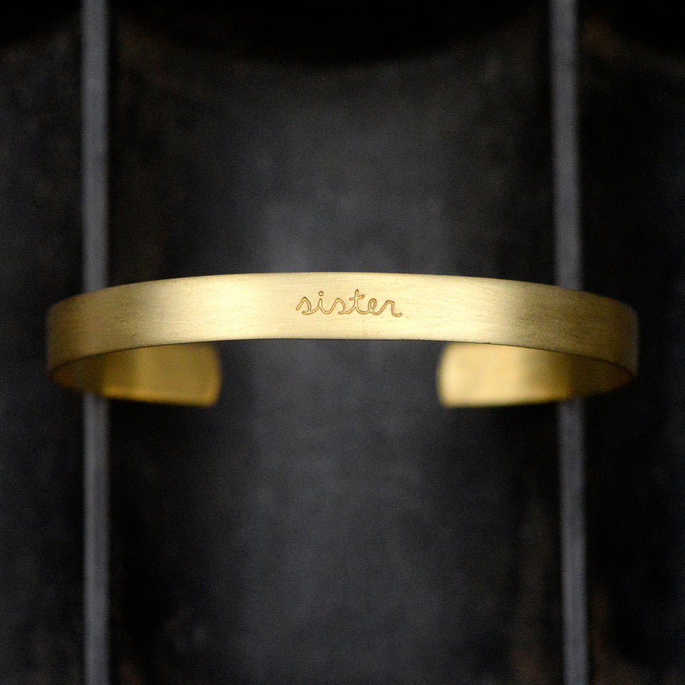 Load image into Gallery viewer, Sister - Brass Cuff