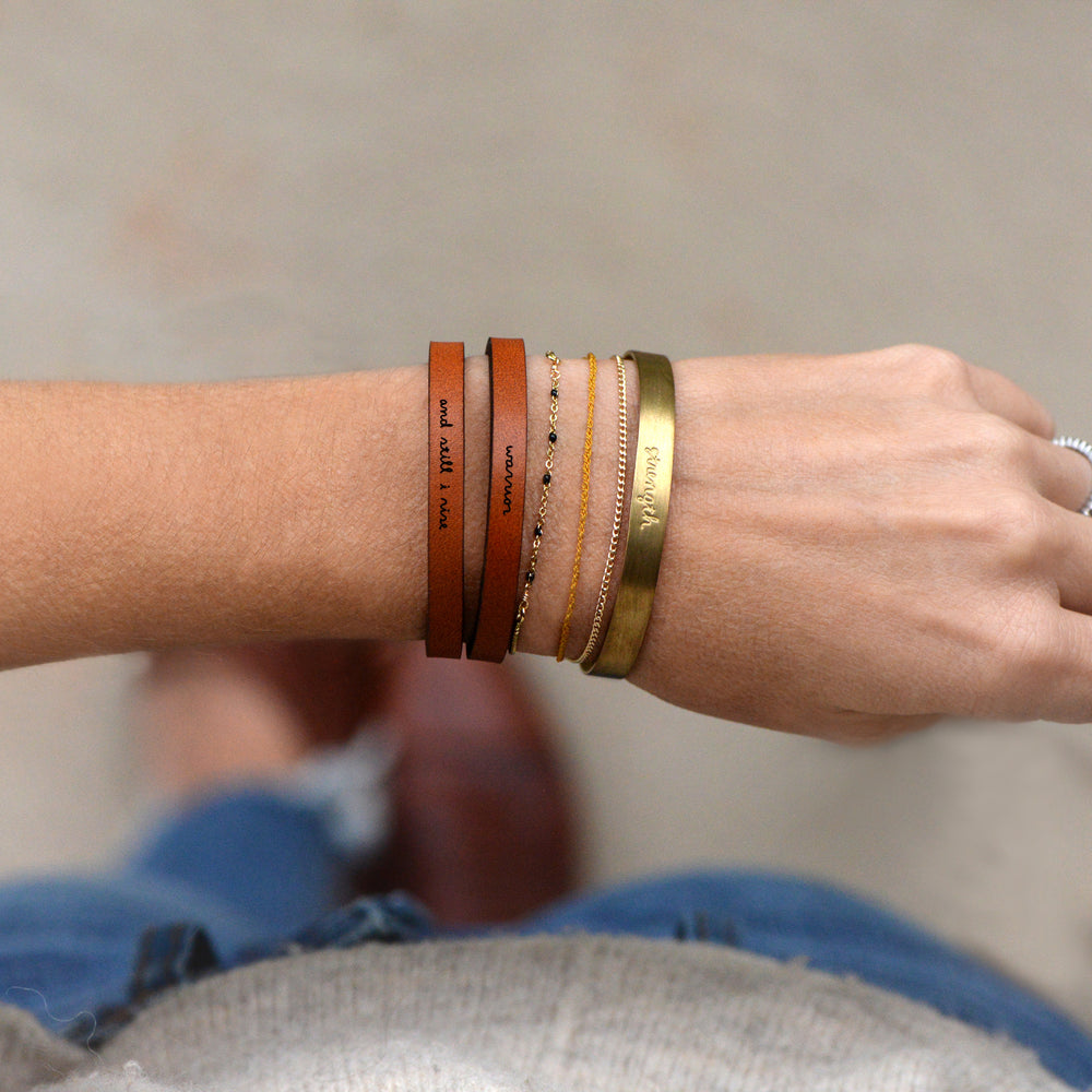 Strength - Brass Cuff