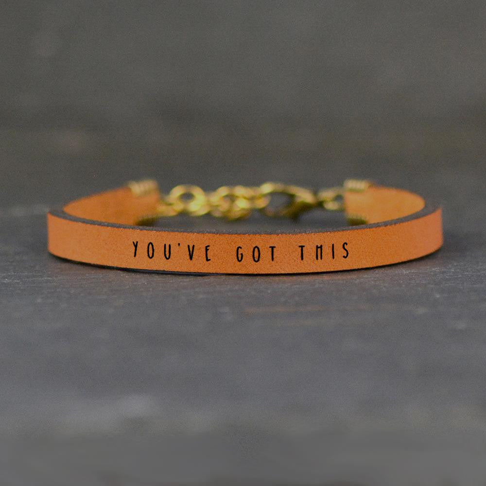 You've Got This - Leather Bracelet
