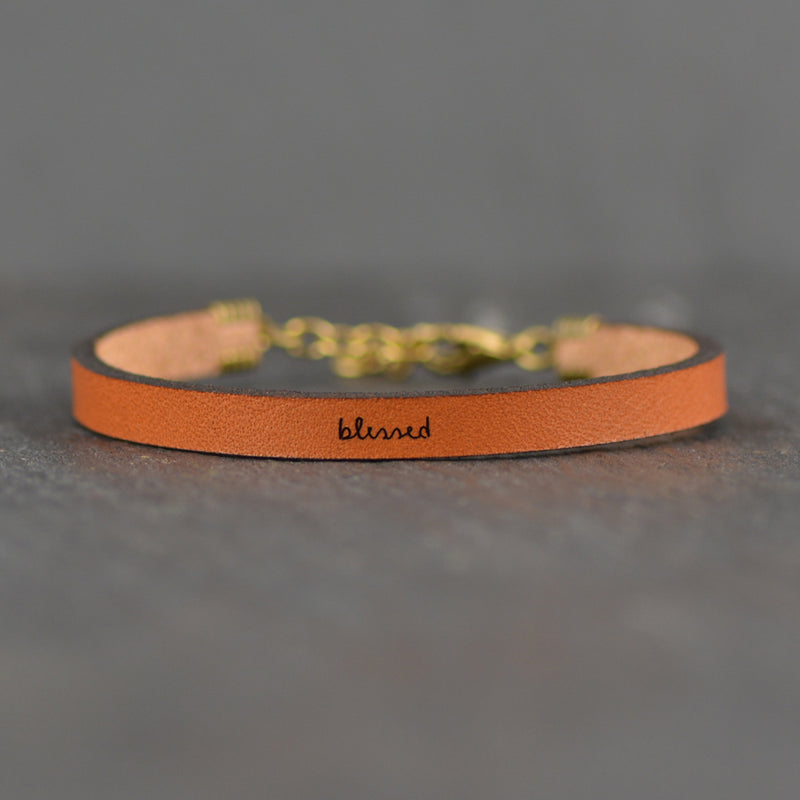 Blessed - Leather Bracelet