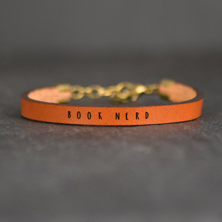 Book Nerd - Leather Bracelet
